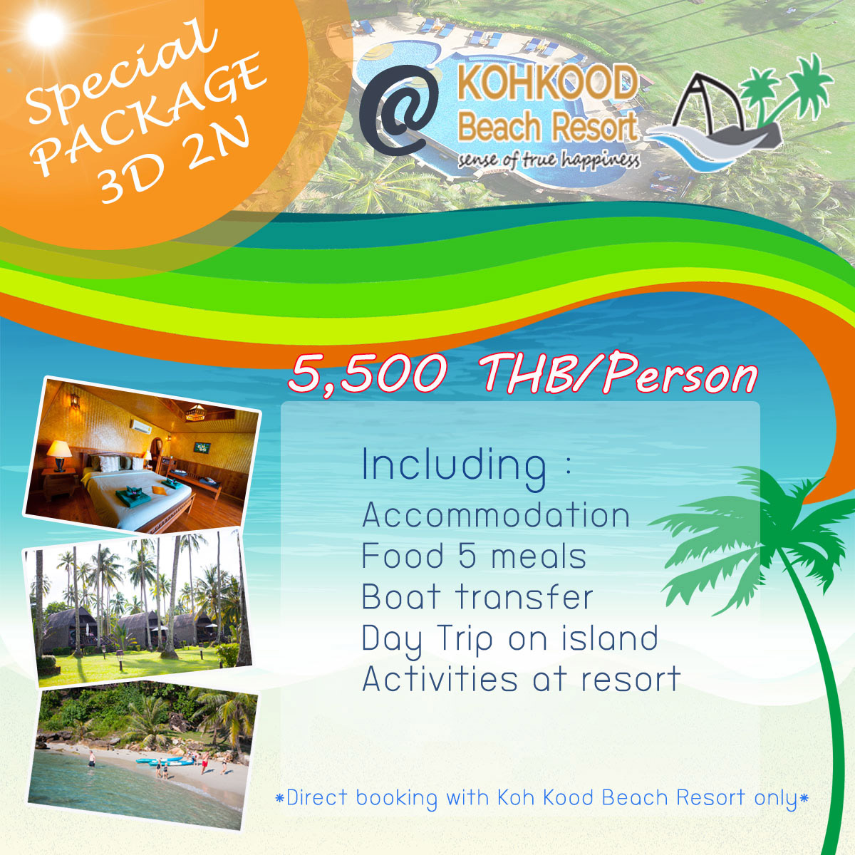 Koh Kood Beach Resort Package 3 Days 2 Nights